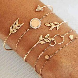 14K Gold Plated Bracelets Set New